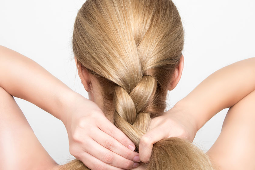 Tight hairstyles can cause hair loss.