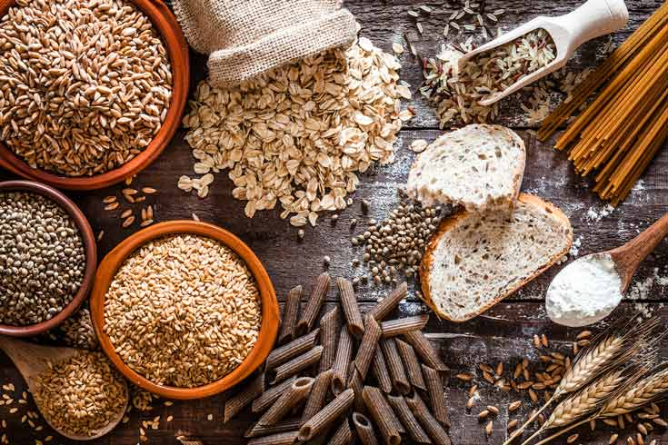 Whole grains, rice, and barley are good dietary sources of silica.
