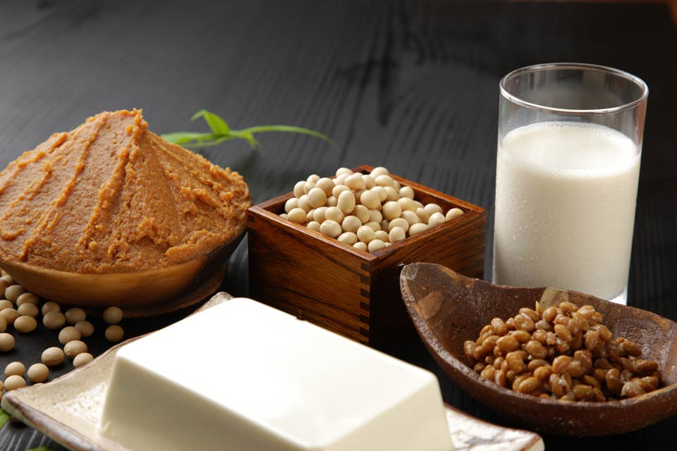 Soybeans, soy milk, and miso are all good sources of soy isoflavones.
