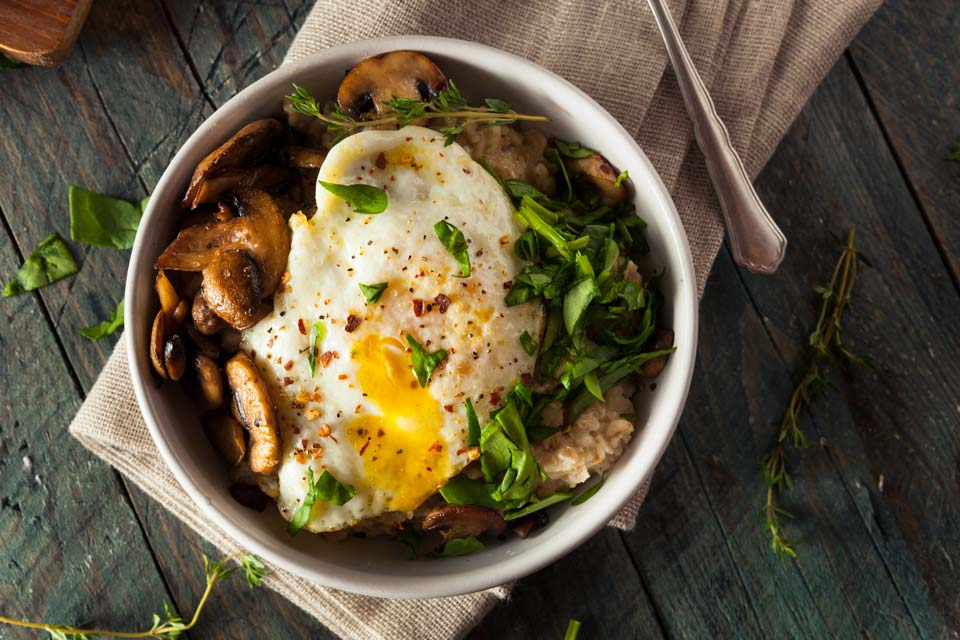 Egg yolks, spinach, and whole grains are high in the trace mineral manganese.